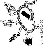 Браслет с туристическими символами. Стоковая иллюстрация, иллюстратор Карлов Сергей / Фотобанк Лори