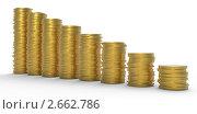 Прогрессивный рост или снижение доходов. Стоковая иллюстрация, иллюстратор Арсений Герасименко / Фотобанк Лори