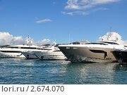 Порт Канны.Франция. Морской пейзаж с прогулочными судами и яхтами (2010 год). Стоковое фото, фотограф Анжелика Сеннова / Фотобанк Лори