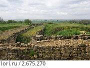 Купить «Руины Танаиса на фоне поймы Дона», фото № 2675270, снято 14 мая 2011 г. (c) Борис Панасюк / Фотобанк Лори