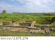 Купить «Остатки строений Танаиса на фоне весенней степи», фото № 2675274, снято 14 мая 2011 г. (c) Борис Панасюк / Фотобанк Лори