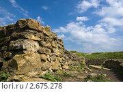 Купить «Желтые камни Танаиса под синим небом», фото № 2675278, снято 14 мая 2011 г. (c) Борис Панасюк / Фотобанк Лори