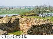 Купить «Руины Танаиса на фоне дельты Дона», фото № 2675282, снято 14 мая 2011 г. (c) Борис Панасюк / Фотобанк Лори
