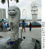 Мерлион в центре Сингапура (2010 год). Редакционное фото, фотограф Баранов Александр / Фотобанк Лори