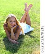 Купить «Портрет юной блондинки», фото № 2678218, снято 27 мая 2020 г. (c) Юдин Владимир / Фотобанк Лори