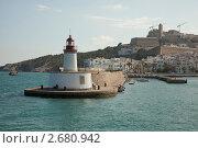 Купить «Действующий маяк на острове Ибица. Испания», фото № 2680942, снято 14 июля 2011 г. (c) Gagara / Фотобанк Лори