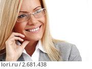 Портрет успешной деловой женщины в очках. Стоковое фото, фотограф Иван Михайлов / Фотобанк Лори