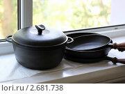 Купить «Чугунная посуда», фото № 2681738, снято 27 июля 2011 г. (c) Лилия / Фотобанк Лори