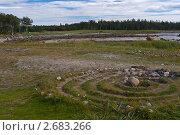 Купить «Каменный лабиринт на побережье Белого моря», эксклюзивное фото № 2683266, снято 19 августа 2007 г. (c) Родион Власов / Фотобанк Лори