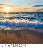 Купить «Закат на море», фото № 2683346, снято 13 июня 2009 г. (c) Юрий Брыкайло / Фотобанк Лори