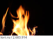Языки пламени. Стоковое фото, фотограф Евгений Можаровский / Фотобанк Лори