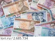 Деньги Литвы - купюры, эксклюзивное фото № 2685734, снято 29 июня 2011 г. (c) Константин Косов / Фотобанк Лори