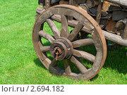 Купить «Фрагмент телеги с дровами», фото № 2694182, снято 3 июля 2011 г. (c) Дмитрий Грушин / Фотобанк Лори