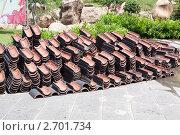 Черепица для написания желаний в буддийском комплексе на Хайнань (2011 год). Стоковое фото, фотограф Шарипова Лилия / Фотобанк Лори