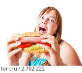 Купить «Девочка с фастфудом», фото № 2702222, снято 15 июля 2011 г. (c) Майя Крученкова / Фотобанк Лори