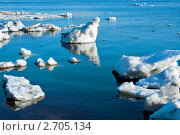 Купить «Весна. Дрейфующий Лед на реке», фото № 2705134, снято 26 марта 2007 г. (c) ElenArt / Фотобанк Лори