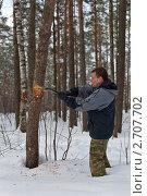 Купить «Дровосек», фото № 2707702, снято 27 февраля 2011 г. (c) Argument / Фотобанк Лори