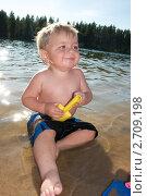 Купить «Ребенок  на  речном пляже», фото № 2709198, снято 5 августа 2011 г. (c) Tamara Sushko / Фотобанк Лори