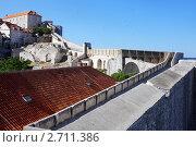 Крепостные стены Старого города, Дубровник, Хорватия (2011 год). Стоковое фото, фотограф Pshenichka / Фотобанк Лори