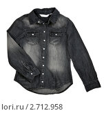 Купить «Черная джинсовая рубашка», фото № 2712958, снято 17 июля 2011 г. (c) Руслан Кудрин / Фотобанк Лори