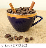 Чашка, полная кофейных зерен. Стоковое фото, фотограф Денис Кошель / Фотобанк Лори
