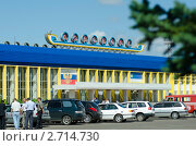Купить «Здание аэропорта Байкал в городе Улан - Удэ. Бурятия», фото № 2714730, снято 11 августа 2011 г. (c) Александр Подшивалов / Фотобанк Лори