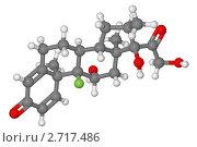 Купить «Шаростержневая модель молекулы дексаметазона», иллюстрация № 2717486 (c) Владимир Федорчук / Фотобанк Лори