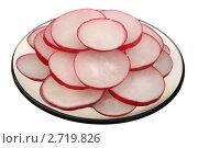 Купить «Редис на тарелке», фото № 2719826, снято 25 апреля 2010 г. (c) Игорь Веснинов / Фотобанк Лори