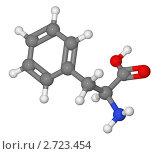 Купить «Шаростержневая модель молекулы фенилаланина», иллюстрация № 2723454 (c) Владимир Федорчук / Фотобанк Лори