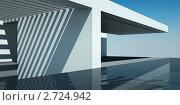 Современный дом с бассейном, иллюстрация № 2724942 (c) Юрий Бельмесов / Фотобанк Лори