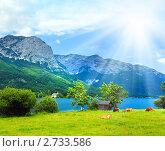 Купить «Альпийское озеро Грундлзее (Grundlsee), Австрия», фото № 2733586, снято 4 июня 2011 г. (c) Юрий Брыкайло / Фотобанк Лори