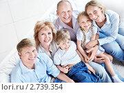 Купить «Портрет счастливой семьи», фото № 2739354, снято 4 июня 2011 г. (c) Raev Denis / Фотобанк Лори