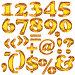 Цифры и знаки из янтаря, иллюстрация № 2741950 (c) Любовь Веселова / Фотобанк Лори