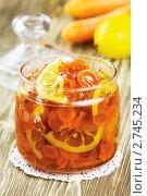 Купить «Варенье из моркови и лимона», эксклюзивное фото № 2745234, снято 25 апреля 2011 г. (c) Александр Курлович / Фотобанк Лори