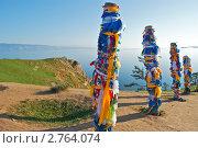 Купить «Байкал, остров Ольхон, мыс Бурхан, скала Шаманка», фото № 2764074, снято 20 августа 2011 г. (c) Tamara Sushko / Фотобанк Лори