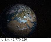 Купить «Вид планеты Земля из космоса Европа», иллюстрация № 2770526 (c) Кирилл Путченко / Фотобанк Лори