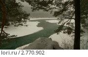 Алтай, река Катунь зимой. Стоковое видео, видеограф Игорь Тирский / Фотобанк Лори