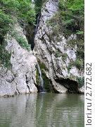 Купить «Агурский водопад летом», фото № 2772682, снято 17 августа 2011 г. (c) Анна Мартынова / Фотобанк Лори