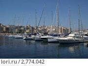Мальта. Причал. Яхты. (2011 год). Стоковое фото, фотограф Александр Карябин / Фотобанк Лори