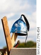 Шлем средневекового война. Стоковое фото, фотограф Иван Губанов / Фотобанк Лори