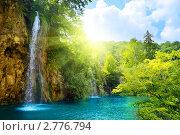 Купить «Водопад в Хорватии Плитвицкие озёра», фото № 2776794, снято 27 июля 2008 г. (c) Iakov Kalinin / Фотобанк Лори
