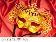 Купить «Золотая карнавальная маска», фото № 2791458, снято 9 марта 2011 г. (c) Elnur / Фотобанк Лори
