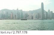 Гонконг, бухта Виктории (2011 год). Стоковое видео, видеограф Кирилл Трифонов / Фотобанк Лори