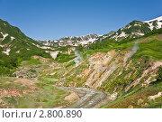 Купить «Долина гейзеров», фото № 2800890, снято 11 июля 2011 г. (c) Борис Иванов / Фотобанк Лори