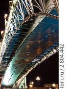 Ночной вид на Патриарший мост. г.Москва (2011 год). Редакционное фото, фотограф Марков Николай / Фотобанк Лори