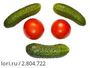 Купить «Помидоры и огурцы», эксклюзивное фото № 2804722, снято 18 сентября 2011 г. (c) Константин Косов / Фотобанк Лори