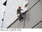 Купить «Утепление стен панельного дома», фото № 2815722, снято 13 апреля 2011 г. (c) Николай Голицынский / Фотобанк Лори