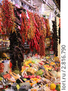 Купить «Перец горький. Базар.», фото № 2816790, снято 3 сентября 2011 г. (c) EXG / Фотобанк Лори