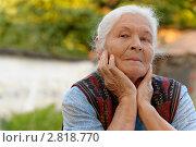 Купить «Портрет пожилой женщины», фото № 2818770, снято 22 сентября 2011 г. (c) Сергей Галушко / Фотобанк Лори