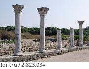 Руины древнего храма в Херсонесе (2011 год). Стоковое фото, фотограф Давыдов Юрий / Фотобанк Лори